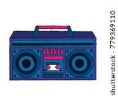 old radio stereo pop art colors | Shutterstock .eps vector #779369110