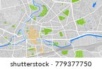 vector map city | Shutterstock .eps vector #779377750