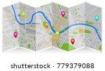 map city fold   Shutterstock .eps vector #779379088