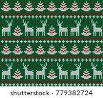 knitted christmas and new year... | Shutterstock .eps vector #779382724