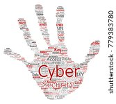conceptual cyber security... | Shutterstock . vector #779383780