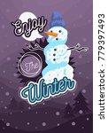 winter  poster flyer card cover ... | Shutterstock .eps vector #779397493