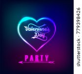 valentines day party background ...   Shutterstock .eps vector #779398426