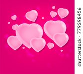 valentines day background with... | Shutterstock .eps vector #779398456