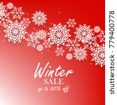 red winter background with... | Shutterstock .eps vector #779400778
