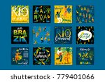 Stock vector brazil carnival vector templates for carnival concept and other users 779401066