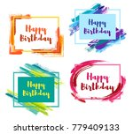 happy birthday borders with... | Shutterstock .eps vector #779409133