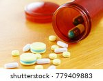 many colors pill or drugs are... | Shutterstock . vector #779409883