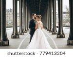 wedding couple in france   Shutterstock . vector #779413204