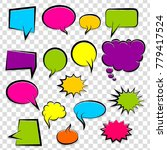 comic speech bubbles halftone... | Shutterstock .eps vector #779417524