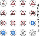 line vector icon set   road... | Shutterstock .eps vector #779420944