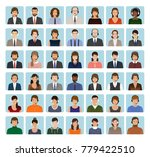 call center employee avatars... | Shutterstock .eps vector #779422510
