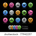 science icons    gelcolor... | Shutterstock .eps vector #77942257