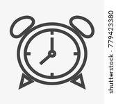 alarm clock button vector icon...