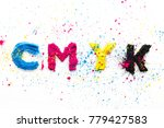 cmyk colour toner for printer... | Shutterstock . vector #779427583
