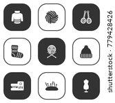 set of 9 handmade icons set... | Shutterstock .eps vector #779428426