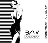 black and white fashion logo... | Shutterstock .eps vector #779432524