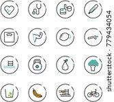 line vector icon set   heart... | Shutterstock .eps vector #779434054