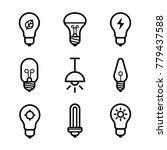 lightbulbs icon set | Shutterstock .eps vector #779437588