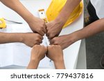 group construction holding... | Shutterstock . vector #779437816