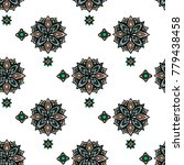 abstract mayan ornamental... | Shutterstock .eps vector #779438458