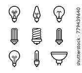 lightbulbs icon set | Shutterstock .eps vector #779439640