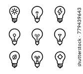 lightbulbs icon set | Shutterstock .eps vector #779439643