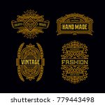 beautiful hipster vintage... | Shutterstock .eps vector #779443498