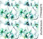 seamless pattern with beautiful ...   Shutterstock . vector #779446870