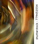 "Small photo of Photo ""Spin-tacular"" abstract art"