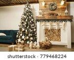 interior of living room... | Shutterstock . vector #779468224