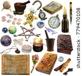 big set with magic and occult... | Shutterstock . vector #779470108
