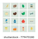 organic food icon flat set with ... | Shutterstock .eps vector #779470180