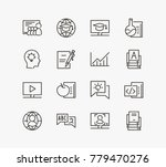 learning icon line set with... | Shutterstock .eps vector #779470276