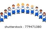 choir girls and boys singing a... | Shutterstock .eps vector #779471380