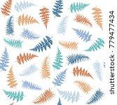 fern frond herbs  tropical...   Shutterstock .eps vector #779477434