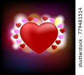red heart on black background... | Shutterstock .eps vector #779481514