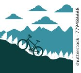 mountain bike ascending...   Shutterstock .eps vector #779486668