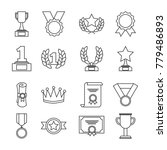 awards trophy medals and... | Shutterstock .eps vector #779486893