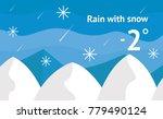 winter weather widget with rain ...