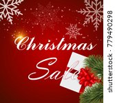 christmas sale poster with...   Shutterstock .eps vector #779490298