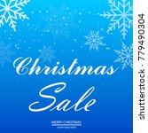 christmas sale poster with... | Shutterstock .eps vector #779490304