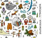 travel to baikal  russia.... | Shutterstock .eps vector #779493694