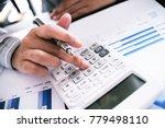 auditor or internal revenue...   Shutterstock . vector #779498110