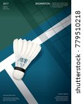 badminton championship poster... | Shutterstock .eps vector #779510218