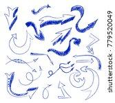 set of 20 hand drawn ball point ... | Shutterstock .eps vector #779520049
