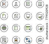 line vector icon set   passport ... | Shutterstock .eps vector #779520928