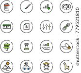 line vector icon set   trash... | Shutterstock .eps vector #779521810
