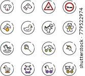 line vector icon set   dog... | Shutterstock .eps vector #779522974