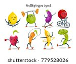fruits and vegetables cartoon...   Shutterstock . vector #779528026